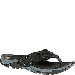 Merrell Men\'s Telluride Thong Sandal, Black, 13 M US