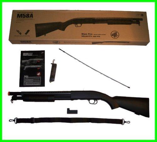 BBTac Airsoft Shotgun BT-M58A Pump Action Airsoft Gun High Performance 350 FPS (500 Fps Shotgun compare prices)