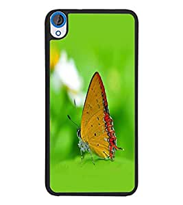 PrintDhaba Butterfly D-1259 Back Case Cover for HTC DESIRE 820 (Multi-Coloured)
