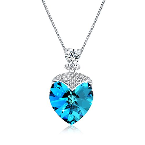 "Osiana "" ""Sweetheart ""Women s CZ Pendant Necklace Made with Swaro…"
