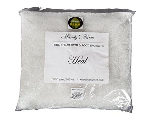 3 kg MANDY'S FARM HEALING EPSOM BATH & FOOT SPA SALTS – Salon/Spa Size Refill Pack