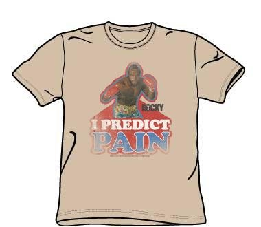 Rocky III Movie I PREDICT PAIN Mr T Adult Sand Color T-shirt
