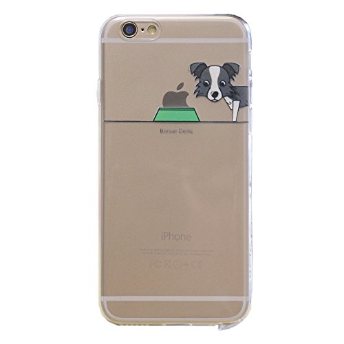 iPhone 6S Plus Custodia, Hamyi iPhone 6 Plus Cover in Ultra Sottile Morbida Silicone TPU,Motivo:Cane e Animali Domestici Slim Protettiva Case per Apple iPhone 6 Plus /6S Plus (Schermo da 5,5 pollici) (Border Collie)