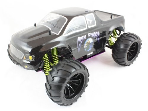 RC Nitro Cars Remote Radio Controlled Fast Nitro MONSTER TRUCK 1:10 Scale Grim Reaper 6101
