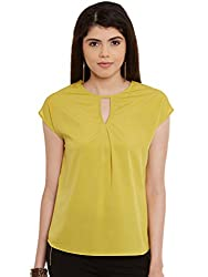Yellow Solid Poly Crepe Top