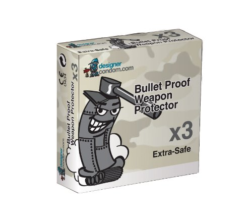 Bullet Proof Weapon Protection condom Pack of 3 x 3 (Total 9 Condoms)