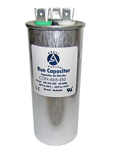 DUAL RUN CAPACITOR 45+5 MFD uF 440V/450V ROUND CAN. UL Certified