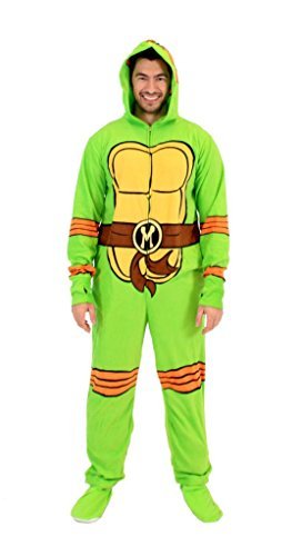 Teenage Mutant Ninja Turtles Michelangelo Green Union Suit