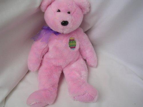 Easter Pink Teddy Bear ; Ty Beanie Buddies Plush
