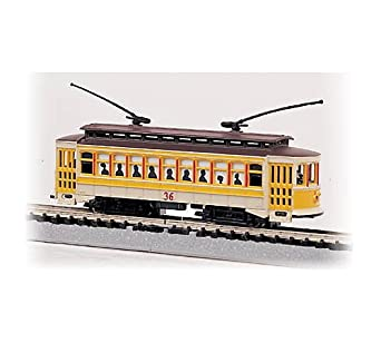 Bachmann Brill Trolley - Yellow #36 - N Scale