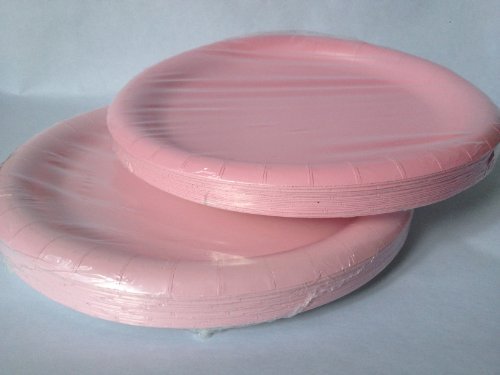 Pink Paper Party Plates 8.75 in - (40) Plates!