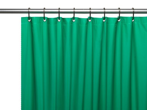 Carnation Home Fashions Hotel Collection 8-Gauge Vinyl Shower Curtain Liner with Metal Grommets, Emerald (Shower Liner Green compare prices)