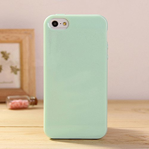 iPhone 6/6S Plus Jelly Case, ANLEY Candy Fusion Series - [1.5mm Slim Fit] [Shock Absorption] Classic Jelly Silicone Case Soft Cover for iPhone 6 / 6S Plus (5.5 inch) (Mint Green) + Free Ultra Clear Screen Protector Film (Iphone 6 Soft Jelly compare prices)