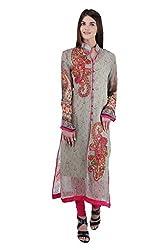 Women's Stitched Rakhi Festive Viscose Georgette Kurta with stylish stone embroidery (Size 44)