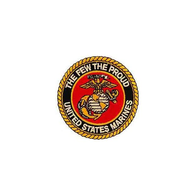 USMC Marine Corps Military Embroidery Iron On Patch   The Few, The Proud Globe