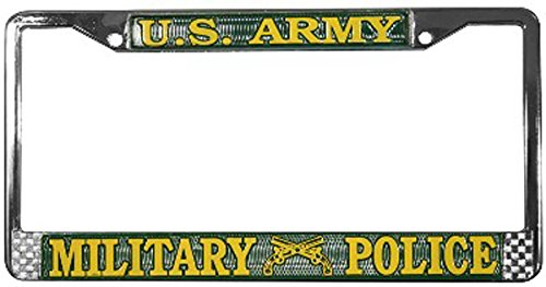 US Army Military Police License Plate Frame (Chrome Metal) (License Plate Police Frame compare prices)