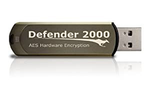Kanguru 8GB Defender 2000 Secure USB 2.0 Fips 140-2 Encrypted Flash Drive (KDF2000-8G)