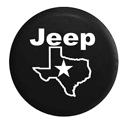 Jeep Texas Star Spare Tire Cover OEM Vinyl Black 30-31 in (Xj Spare Tire compare prices)