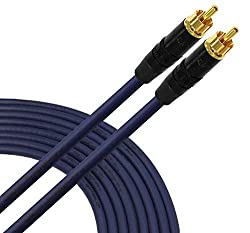 25 Foot SPDIF Cable - Made with Gotham GAC-1 S/PDIF-Pro (Ultrablue) High-End Silver Plated LCOFC Digital Audio Interconnect Cable and Neutrik-Rean NYS Gold RCA Connectors