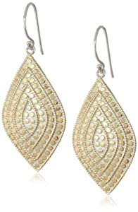 "Anna Beck Designs ""Lombok"" 18k Gold-Plated Divided Shield Earrings, 1.4"""