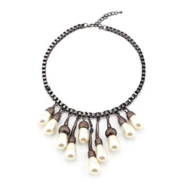 Pearl Tree Statement Necklace
