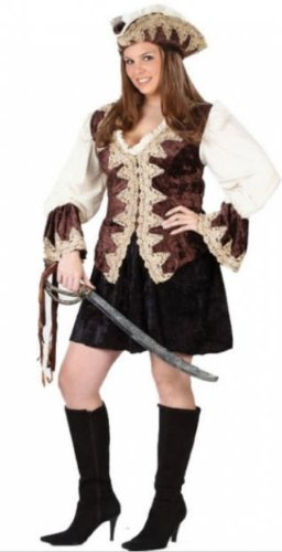 Costumes for all Occasions FW5707 Royal Lady Pirate Plus Size
