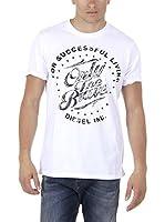 Diesel Camiseta Manga Corta T-Balder (Blanco)