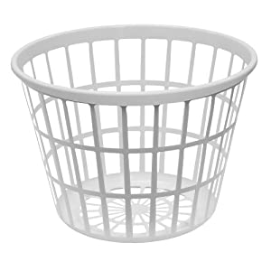 United Solutions Round Plastic Laundry Basket Small
