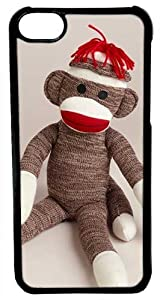 CellPowerCasesTM Sitting Sock Monkey Case for iPhone 5c (Black Case) at 'Sock Monkeys'
