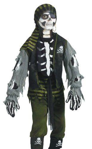 Fun World Kids Boys Scary Skeleton Zombie Pirate Halloween Costume