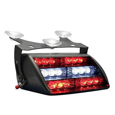 Rayshop - Red Blue 18X Led Firefighter Ems Personal Vehicle Emergency Dash Warning Light
