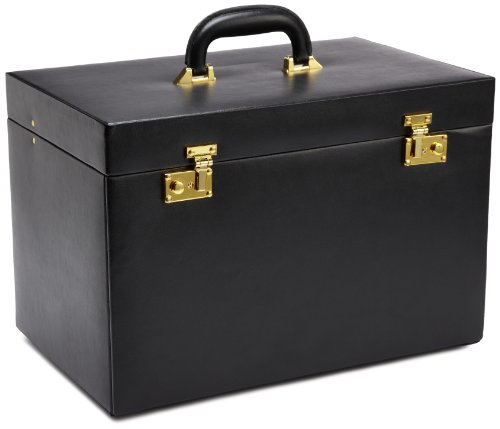 WOLF 280802 Heritage Extra Large Black Heirloom Trunk Jewelry-Box