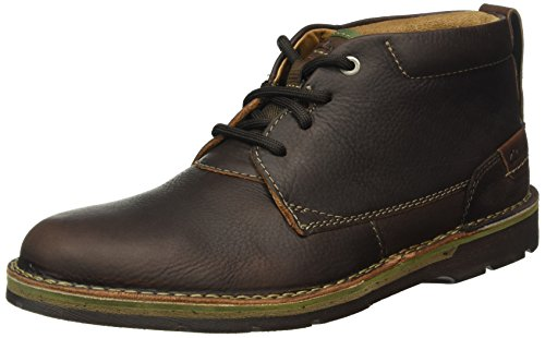 Clarks Edgewick, Stivaletti Uomo, Marrone (Brown Oily Leather), 43 EU