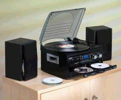 Steepletone SMC595 Black - NOSTALGIA RETRO 5-IN-1 MUSIC SYSTEM WITH CD BURNER/ Vinyl to CD Black Friday & Cyber Monday 2014