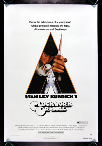 A CLOCKWORK ORANGE * CineMasterpieces ORIGINAL MOVIE POSTER STANLEY KUBRICK LINEN 1971