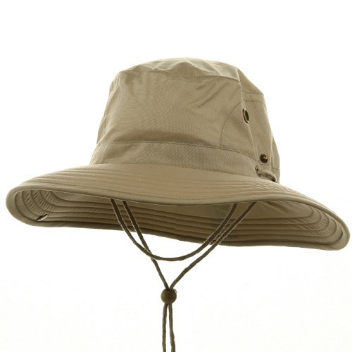 Big Size Floatable Nylon Oxford Hat - Khaki W08S47E