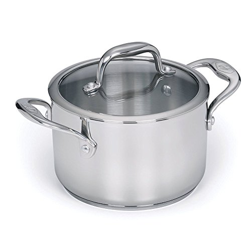 Stainless Steel 3-qt Sauce Pot with Lid (3 Quart Pot With Lid compare prices)