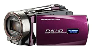 Bell and Howell DNV16HDZ-MFull 1080p HD 16MP Infrared Night Vision Camcorder with 10x Optical Zoom and 3-Inch LCD (Maroon)