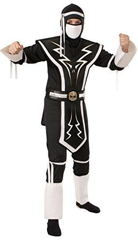 [Rubie's White and Black Skull Ninja Costume, Small] (Ninja Zombie Costumes Child)