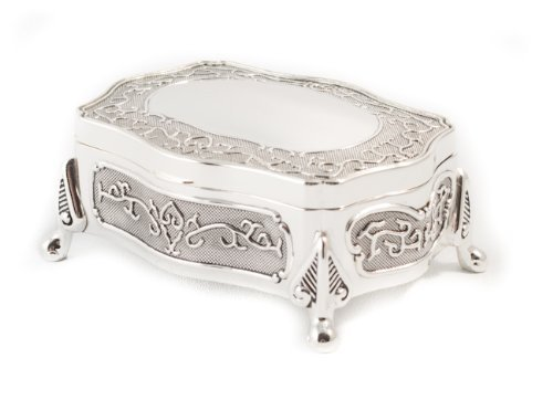 Art Nouveau Silver Plated Trinket Jewellery Box New