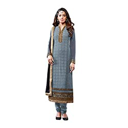 BlueWoman Desinger ethnic Semi stitches dress Material