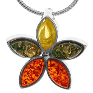 In Collections - 242A205002340 - Collier avec pendentif Femme - Argent fin 925/1000 - Ambre