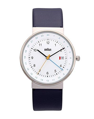 Braun BN0142WHBLG - Reloj de cuarzo unisex, correa de cuero color azul