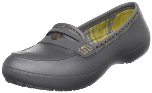 Crocs Women's Lano Loafer,Graphite/Dark Chartreuse,6 M US