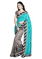 RadadiyaTRD Women's Faux Georgette Saree (Udati_sari01_Blue)