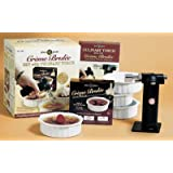 Dean Jacobs Quick & Delicious Creme Brulee Gift Set with Culinary Torch for Caramelizing Tops
