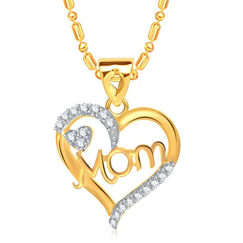 VK-Jewels-Stunning-Gold-and-Rhodium-Plated-Mom-Pendant-for-Women-P1391G-VKP1391G
