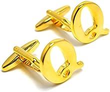 MESE London Gemelos De Iniciales Con Letras Del Alfabeto - Letra Q De Oro