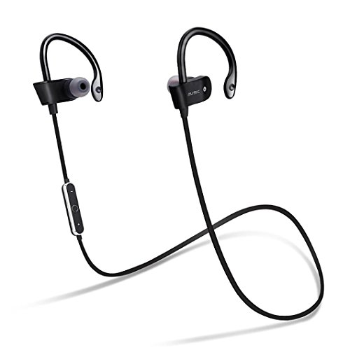 GBSELL Wireless Bluetooth Headset Sport Sweatproof Stereo Headphone Earphone For iPhone Samsung (Black)