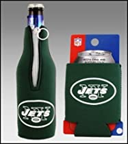 SET OF 2 NEW YORK JETS CAN & BOTTLE KOOZIE COOLER